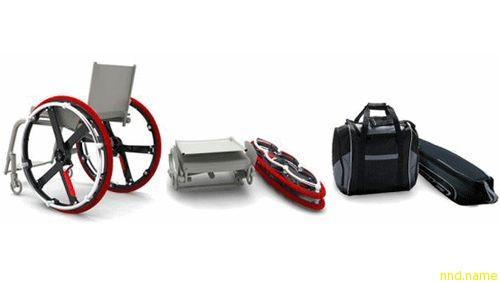 Коляска со складывающимися колесами