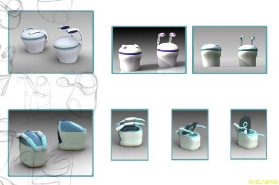 Роботизированный мобильный туалет