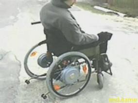 Белорусская коляска с электроприводом типа мотор-колесо