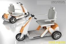 инвалид едет по улице на электроколяске или скутере и вдруг произошла поломка