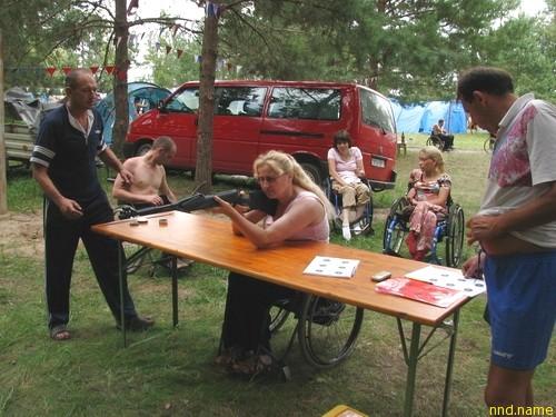 На Мозырщине прошёл туристический слёт для инвалидов-колясочников