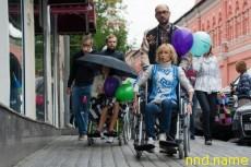 Прогулка на инвалидных колясках – Москва 2011 - Ингеборга Дапкунайте