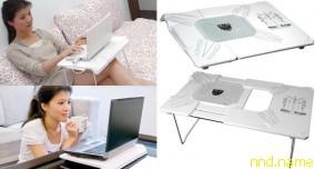 охлаждающая подставка для ноутбука Evercool White Knight трансформируется в столик