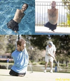 Особенно поражает умение и любовь Ника к различным видам спорта – он плавает в бассейне