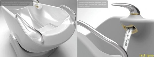 Flume Bathtub: Ванна - качели от дизайнеров