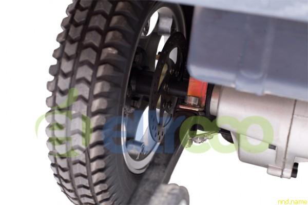 Дисковый тормоз Mobile VG, а также поддерживающий кронштейн, защищающий экомобилик от падения назад
