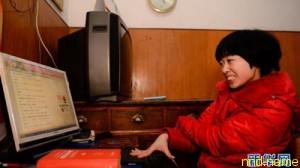 Лю Саолин пишет пальцем романы, покорившие Сеть