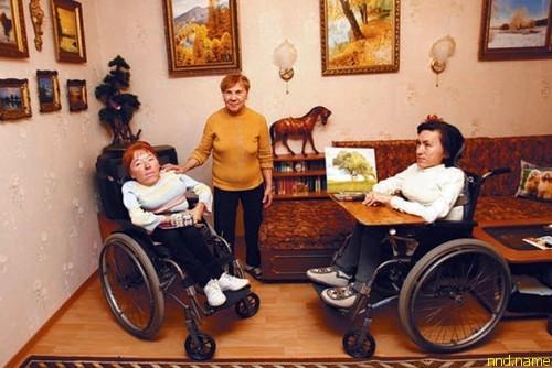 Художницы, сестры Ольга и Ирина Сергеевы