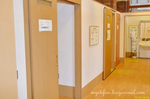 10. Три двери, которые видны в коридоре, наглядно демонстрируют три варианта