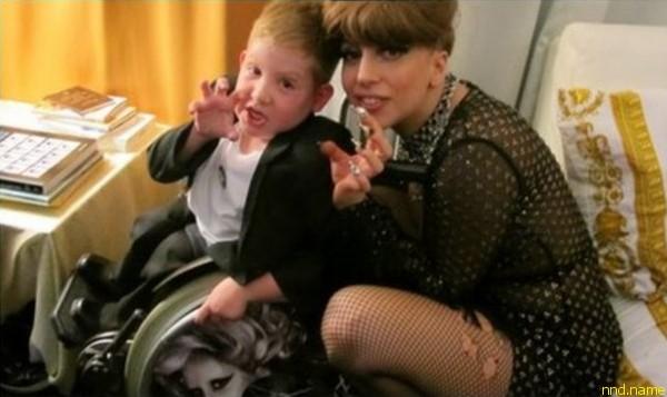 Леди Гага встретилась с шестилетним фанатом