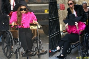 Леди Гага - инвалид от Louis Vuitton