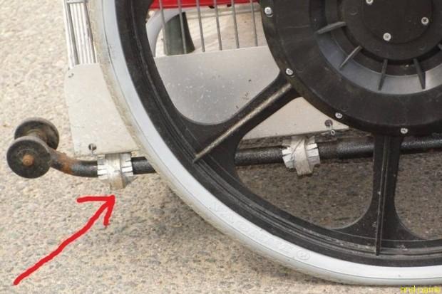 вынесены страховочные колеса