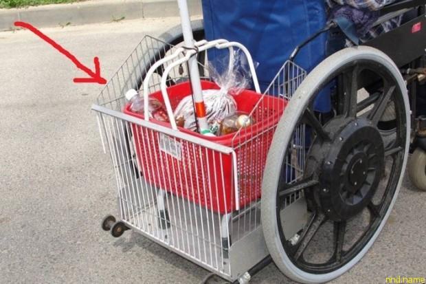 сделана корзина-багажник для продуктов