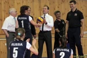Премьер-министр Дмитрий Медведев РФ посетил тульский Алексин
