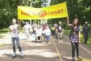 «Нас не догонят»: пензенские колясочники на Олимпийской аллее