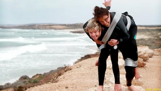 Паскаль и Тайрон регулярно тренируются кататься вместе (фото: adelaidenow.com.au)
