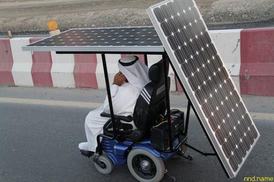 Электроколяска на солнечных батареях