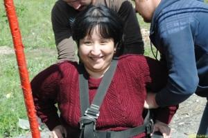 Динара Касаинова прыгнула в коляске с 25-метровой высоты