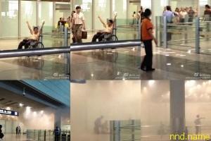 Взрыв в аэропорту Пекина устроил колясочник