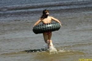 В Каугури появился пляж для инвалидов по зрению