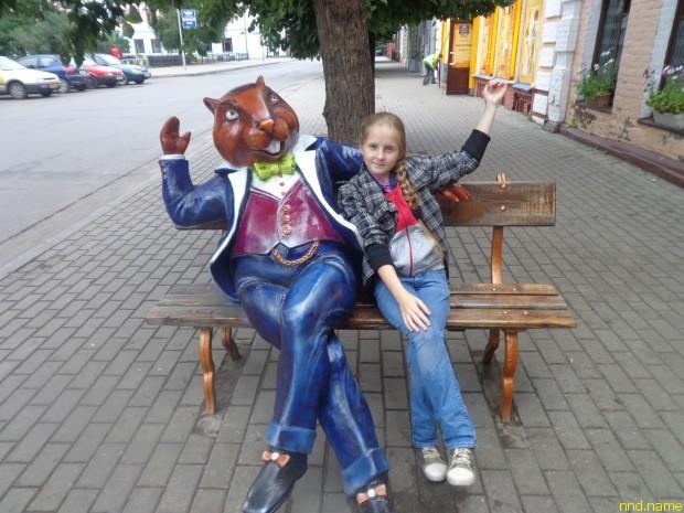 Катя, как и мама, не домоседка. Фото сделано в Бобруйске
