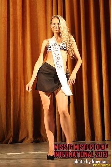 Белоруска Мисс фото на Miss and Mister DEAF International