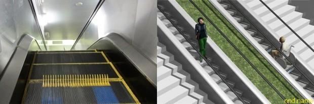 Эскалатор-трансформер - Япония, Токио