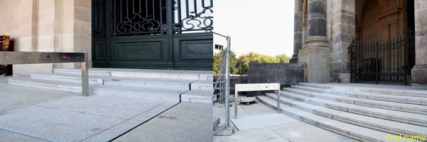 Лестница-лифт перед музеем Боде
