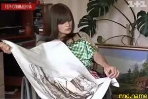 Надежда Данилевич зарабатывает себе на жизнь вышивками