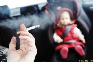 Запрет на курение в машине, перевозящей детей