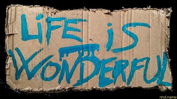 Жизнь прекрасна Life is wonderful