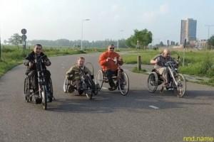 ОНЛАЙН-трансляция проезда колясочников на велобайках по Бобруйску