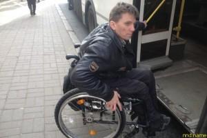 Сергей Поюнов - семь прыжков с автобуса в инвалидной коляске