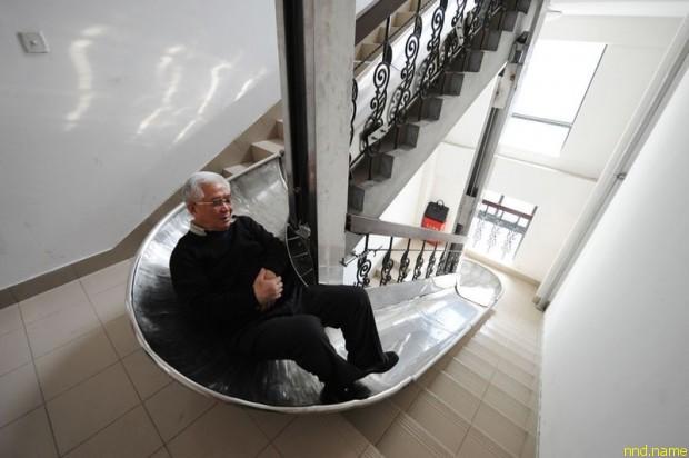 0-летний изобретатель Чжоу Miaorong изобрёл заменитель лифта