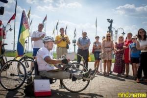 Дмитрий Васильцов из Украины проехал на Hand bike 570 км