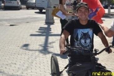 Подарили коляску-трайк за пробег в Севастополь