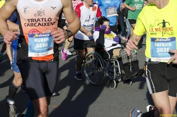 люди с инвалидностью стартуют в Барселоне первыми