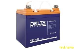 Гелевый аккумулятор для электроколясок Delta GX 12-33