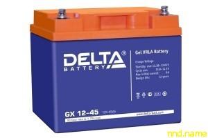 Гелевый аккумулятор для электроколясок Delta GX 12-45