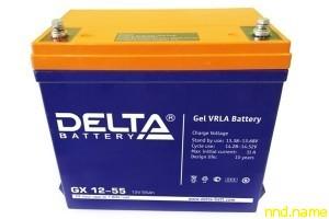 Гелевый аккумулятор для электроколясок Delta GX 12-55