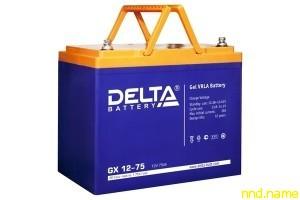 Гелевый аккумулятор для электроколясок Delta GX 12-75