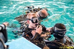 Колясочник освоил азы дайвинга в Минском дельфинарии