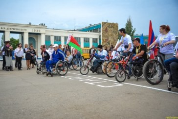 В Волгограде стартовал хенд-байк пробег колясочников