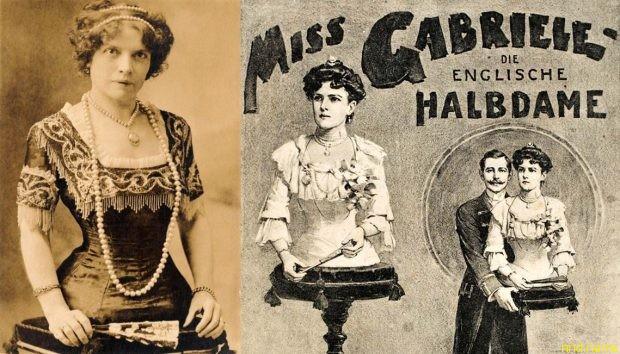 Мадемуазель Габриэль родилась в Швейцарии в 1884 году. Стала знаменитой выступая в шоу