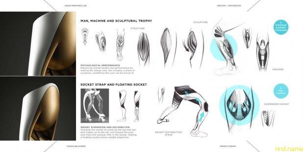 Футуристический протез ноги Soleis