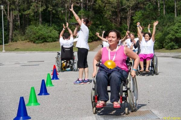 Ольга Германенко участвует в играх на колясках