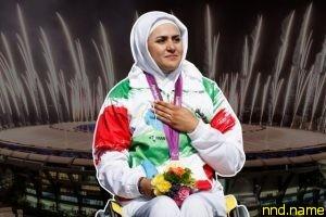 Захра Немати - колясочница, которая несла флаг Ирана в Рио