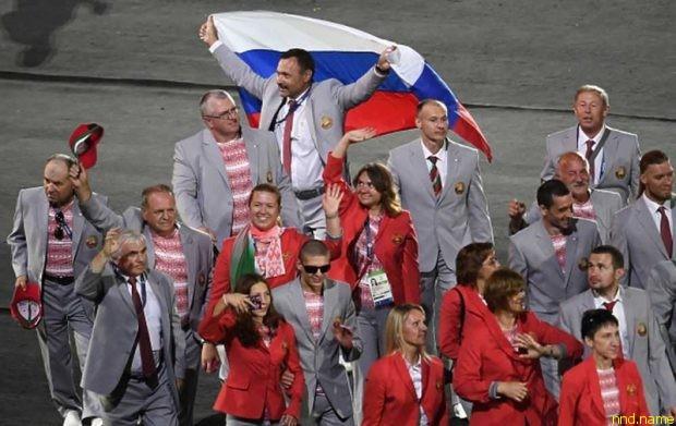 Белорусь пронесла флаг России на церемонии открытия паралимпиады