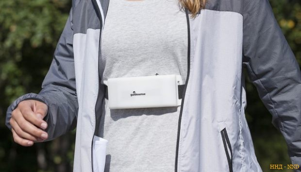 Финский нагрудный радар для слепых Guidesense