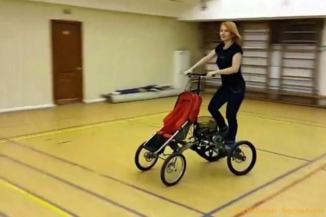 Катюша - гибрид детской коляски и степ-тренажера